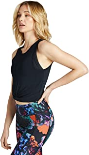 Rockwear Activewear Women's Oasis Twist Knot Crop Black 6 from Size 4-18 for Singlets Tops
