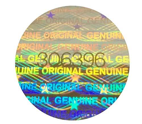 Holomarks 160 St. Hologramm Etiketten mit Seriennummern, Garantie Siegel Aufkleber Rund 15mm