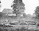 Title - Trostle Barn on the Battlefield of Gettysburg Description - The area of the Trostle barn, taken where the 9th Massachusetts battery was cut up.  It was here were Union General Dan Sickles was hit, losing his leg. Description Source - Library ...