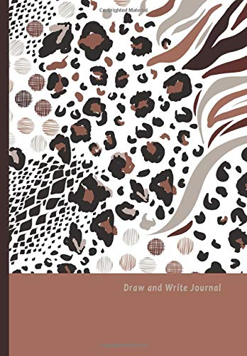 Draw and Write Journal: Book Journal Dual Design Alternating Half Blank- Half College Ruled for Creative Sketchbook Drawing or Doodling & Writing ... Organizer : Mix animal Skin Prints Theme