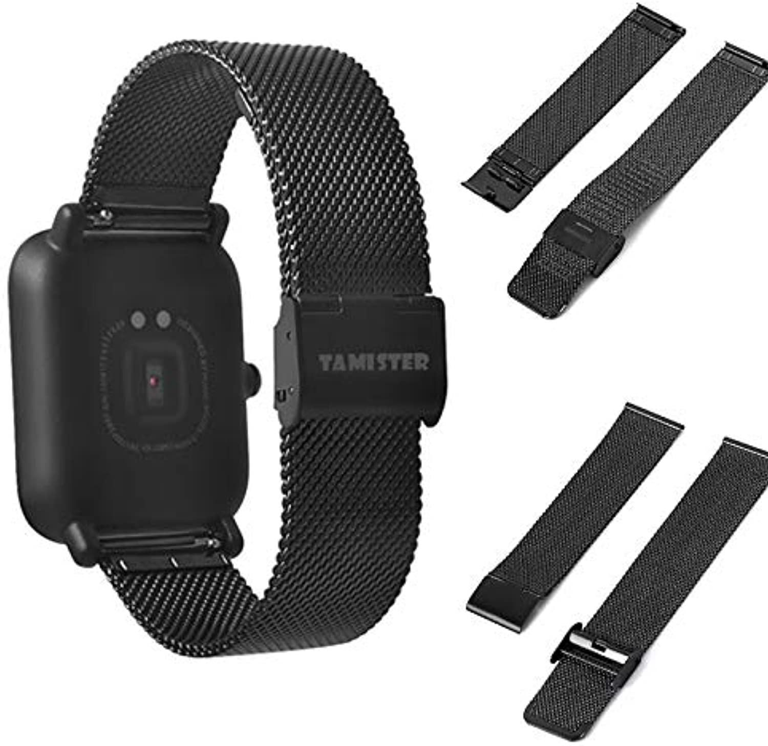 Utini 20mm Replacement Stainless Steel Mesh IP Plating Wrist Watch Strap for_Brand_ HUAMI AMAZFIT