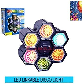 SANSAI QL-98-6C DELUXE LED LINKABLE DISCO PARTY LIGHT+NEW+WTY