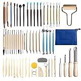 CHESSO Kit d'outils Poterie, 61PCS Outils de Sculpture Argile pour...