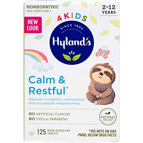 Kids Sleep Aid Tablets, Calm 'n Restful by Hyland's Kids, Natural...