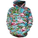 Zaima Unisex 3D Flamingo Hoodie Novedad Sudadera Personalizada Pullover Hooded Stretch Hoodie Sweater S-5Xl