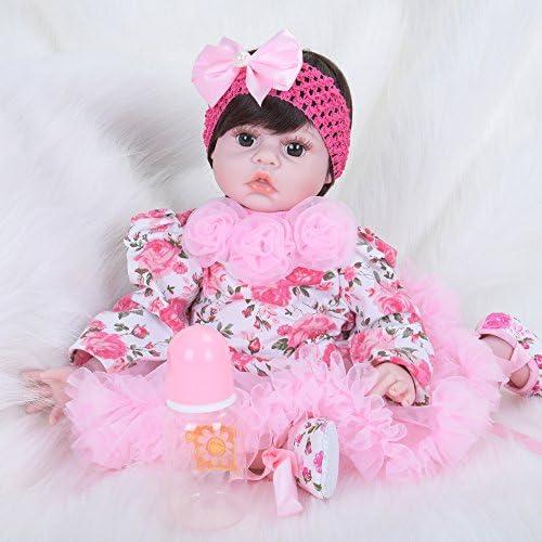 LIJUN Wiedergeburt Puppe Simulation Baby Puppe Spielzeug Puppe 50 cm Braun Augen Kinder Spielzeug,50cm