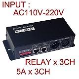 3CH DMX512 Relay Controller DMX512 Relay Decoder DMX 512 Relay Swicth AC110-220V
