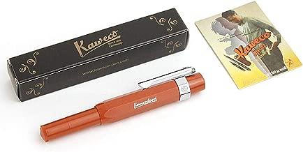 Kaweco Sport Skyline Fountain Pen Fox, Fine Nib with Kaweco Sport Octagonal Clip Chrome