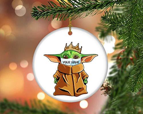 MugChristmas Baby Yoda Quarantine 2020Funny Yoda Star War 2020Yoda with Facemask 2020Yoda Personalized 2020Keepsake Great Ornament 2020