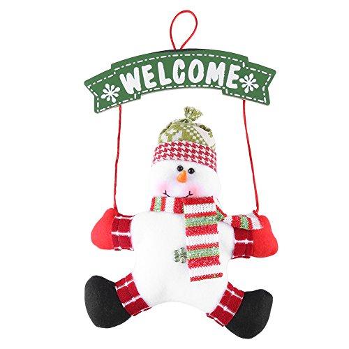 Kerstmis WELCOME schild, Kerstman sneeuwman deur raam muur hangdecoratie voor kerstfeest sneeuwpop