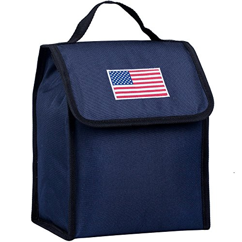 Wildkin Kids Insulated Lunch Bag For Boys & Girls, Perfect Size for Packing Hot or Cold Snacks for School & Travel, Lunch Bags Measures 10 x 8.5 x 5 Inches, BPA-free (USA Blue)
