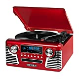 Innovative Technology 50's Retro 3 Speed Bluetooth Turntable with Stereo, CD Player