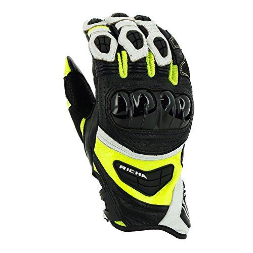 Richa Stealth Handschuh fluo-gelb XL - Motorradhandschuhe