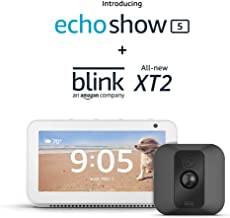 Echo Show 5 (Sandstone) with Blink XT2 Outdoor/Indoor Smart Security Camera