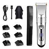 TTLIFE Tondeuses à cheveux Affichage LED rechargeable sans fil avec 6 peignes de guidage (deux modes conviennent aux adultes et aux enfants)