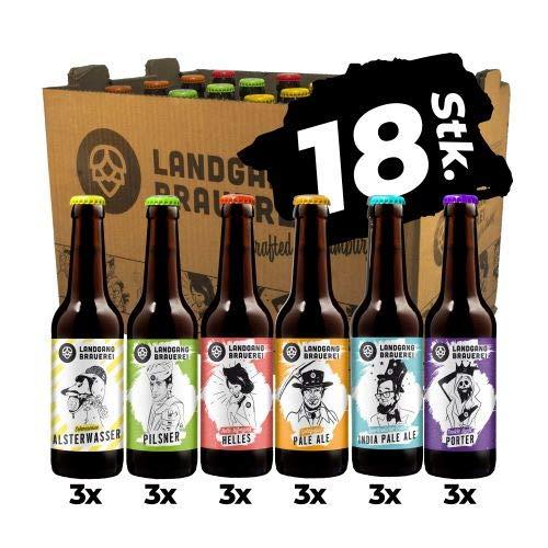 Landgang Brauerei - Craft Bier Mix - 18er Karton (18 x 0,33l)