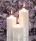 Darice BI-00213 Pearlized Pillar Candle, 3 by 6-Inch, White