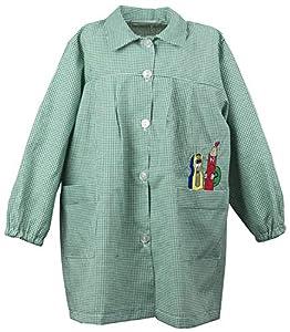 Abril Baby Colegio Bordado Cuadros (Verde, 5 AÑOS)