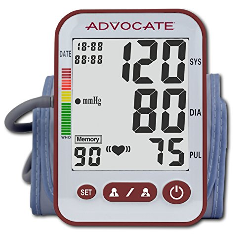 Advocate Automatic Heart Rate & Blood Pressure Cuff for Home Use – Trusted & Accurate Smart Digital Display – Blood Pressure Monitor for Upper Arm – (X-Large)