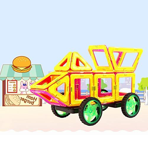 TGRBOP 149 Stück Magnetische Bausteine 3D Magnetischer Bausatz STEM Baustein Kreatives Bildungsgeschenk Für Jungen Mädchen Set Für Kinder Kleinkinder Für Edutainment