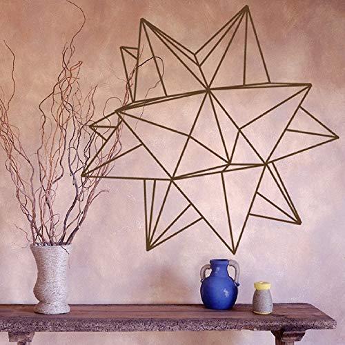 Origami Sterne geometrische Wandtattoo Schlafzimmer Wohnzimmer Dekoration Vinyl Wandaufkleber Büro modernes Interieur 42 * 49cm