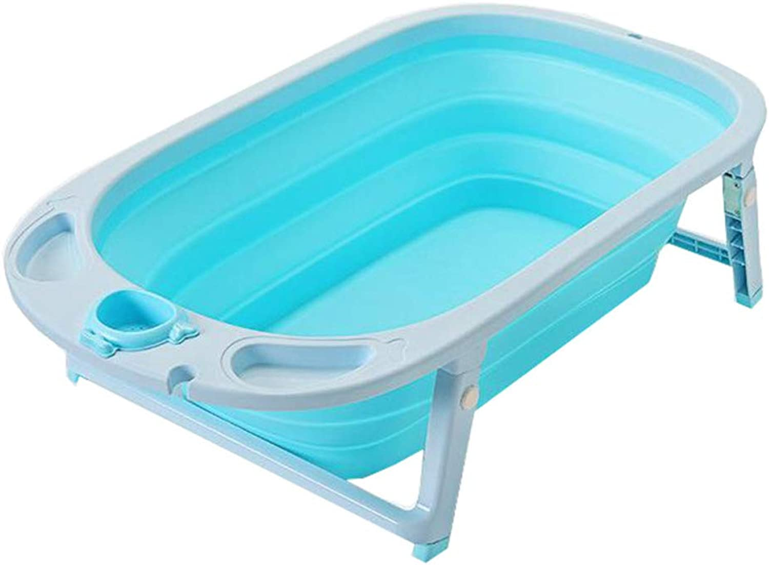 Mai Dou Foldable Baby Tub   Lightweight And Sturdy   Easy To Store   Suitable For Baby Use (bluee),bluee-83x23x47.5cm
