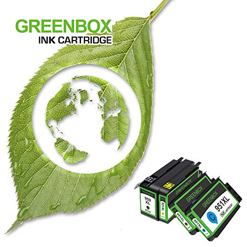 GREENBOX Compatible Ink Cartridge Replacement for HP 950XL 951XL 950 951 Used in Officejet Pro 8600 8610 8100 8620 8630 8640 8615 8625 8616 276DW 271DW 251DW(1 Black 1 Cyan 1 Magenta 1 Yellow 4 Pack) Photo #7