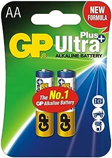 GP Ultra Plus AA Alkaline Batteries 1.5V LR6 15AUP (2/Pack)