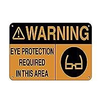 Warning Eye Protection Required Area ティンサイン ポスター ン サイン プレート ブリキ看板 ホーム バーために