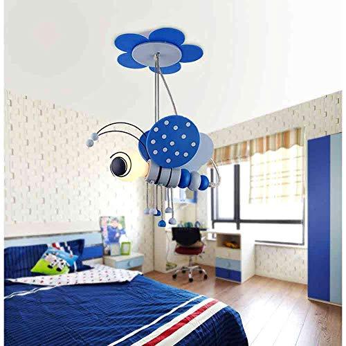 Moderno colgante creativo Luz de nios Habitacin para nios Lmpara de techo Decoracin de Forma de abeja Diseo E27 Metal Metal Colgante de iluminacin Insecto para Boy Girl Dormitorio Regalo [Energ