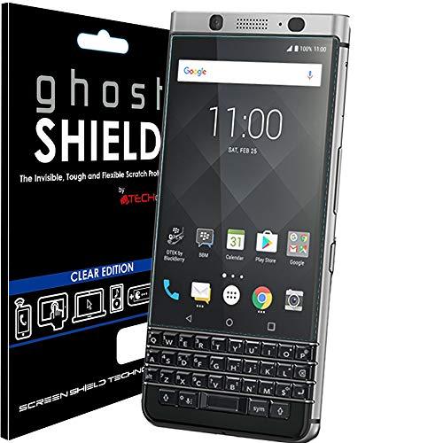 TECHGEAR Bildschirmschutz Kompatibel mit BlackBerry KeyOne - [ghostshield] Genuine verstärkte TPU Bildschirmschutzfolie Guard mit Gesamte Display Deckung inkl. Gebogener Bereich