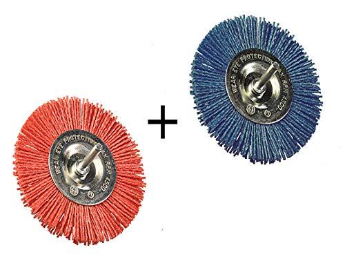 2x Kegelbürste Nylon 50mm fein grob Schleifbürste Schleifnylon Bürste Rost