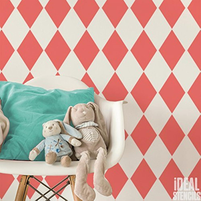 Harlekin Diamant Muster Schablone Home Kinderzimmer Wand Dekorieren Kunst & Basteln Schablone Farbe Wände Stoffe & Möbel 190 Mylar wiederverwendbar Schablone B075K9366S     | Hochwertige Produkte