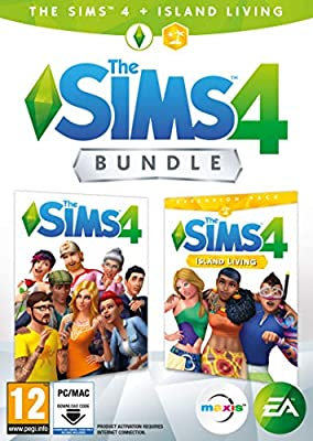 The Sims 4 Plus Island Living Deluxe Upgrade Bundle (Digital Download Code in a Box) PC DVD