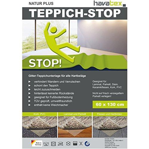 havatex Anti-Rutsch Teppich Unterlage Natur Plus - Größe wählbar | Teppich-Stopper Anti-Rutsch-Matte | Made in Germany | TÜV geprüft & leicht zuzuschneiden, Größe:160 x 230 cm
