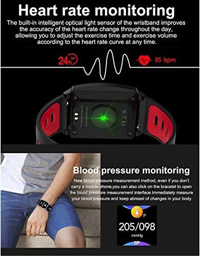 Reloj inteligente para hombres y mujeres de 1.3 pulgadas, pantalla táctil a color, rastreador de actividad, IP67, resistente al agua, para Android y iOS, reloj de fitness con ritmo cardíaco Sleep-A-E