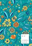 A-Z Vocabulary Notebook: B5 Medium Journal 2 Columns with Alphabet Index | Fancy Animal Floral Cover Design | Teal