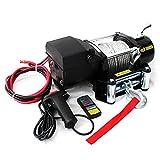 WEIMALL 電動ウインチ 牽引 12V 5000LBS(2268kg) 無線リモコン付属 防水仕様