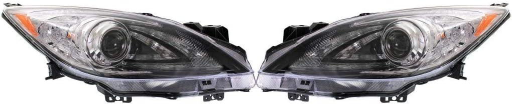 For Mazda Regular dealer 3 Headlight Cheap mail order shopping Assembly Passeng Pair and 2010-2013 Driver