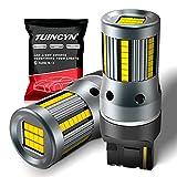 TUINCYN Bombilla LED 7440 W21W más nueva con resistencia de carga incorporada 12V 7440NA 7441 992 T20 CANBUS Señal de giro Luz trasera Luz de marcha atrás Luz de freno, blanco