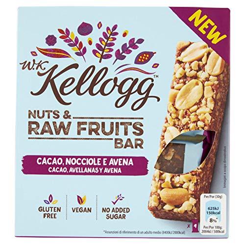 Kellogg's Bars Cacao Nocciole e Avena, 0.120kg