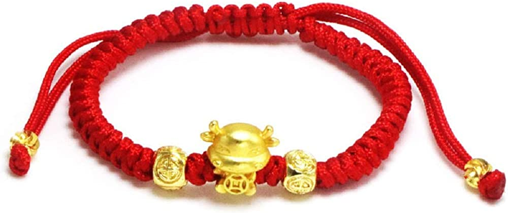 2021 Year of Ox Red String Bracelet Red Cow Charm Chinese Zodiac Animal Birth Year Lucky Charm Bracelet Zodiac Ox Pendant Red Rope Corded Lucky Bracelet New Year Jewelry Gifts for Women Men