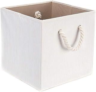 Zidao Boîte de Rangement 33 X 38 X 33 cm Non-tissé en Tissu de Coton et de Lin Boîtes de Rangement Pliable Organisateur av...