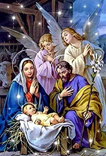El nacimiento de jesus﹣Pintar por Numeros DIY﹣regalo de pintura al óleo preimpresa﹣Arte de lona para decoración del hogar﹣40x50cm﹣(Sin marco)