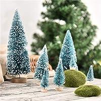 """Simulazione Design: Mini ago di pino affollamento ha uno strato di """"neve"""", che è davvero interessante e crea un'atmosfera di neve d'inverno. Occasioni adatte: Decorazione di Natale, feste, le tabelle, le scene di villaggio, ferrovie, vetrine, esposiz..."""