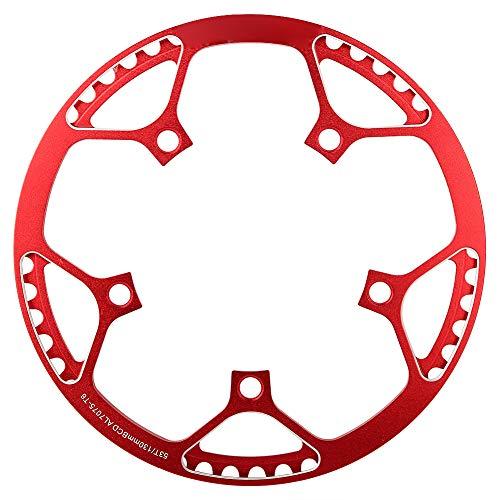 Fiets Ketting Ring Aluminium Mountainbike Front Ketting Enkele Ketting Ring Voor 53T Mountainbike (Rood)