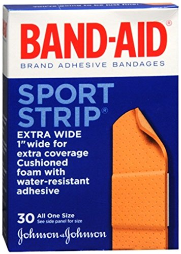 BAND-AID Bandages Cushion-Care Sport Strip 30 ea (Pack of 3)