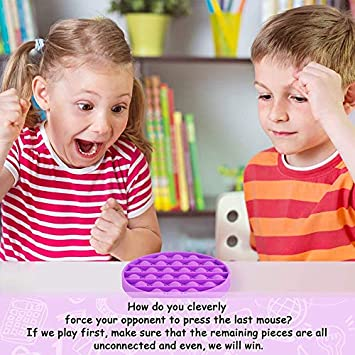 Green, Round Push Pop Bubble Sensory Fidget Toys,Fidget Toy,Silicone Squeeze Sensory Toy for Autism