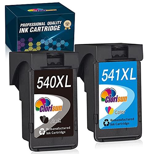Clorisun PG540 CL541 - Cartuchos de tinta compatibles con Canon 540 XL 541 XL para Canon Pixma MX475 MX375 MX395 MX435 MX395 MG4250 MG3600 MG3650 MG3550 MG4200 MG4150 MG2 150 MG. 3150 MG3500.