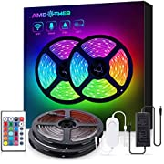 AMBOTHER LED Strip Lights 32.8-feet Wireless